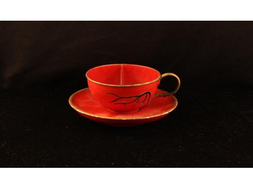 Šálek na kávu s podtáckem 001